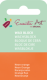 AE Nr.38 wasblokjes 1 st - neonoranje / Blocs de Art Encaustique 1 pcs - fluo orange / Arts Encaustic Blöcke 1 St - neonorange_8