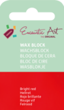 AE Nr.43 wasblokjes 1 st - felrood / Blocs de Art Encaustique 1 pcs - rouge vif / Arts Encaustic Blöcke 1 St - feuerrot_9