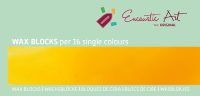 AE Nr.04 wasblokjes 16 st - goudgeel / Blocs de Art Encaustique 16 pcs - jaune d'or / Arts Encaustic Blöcke 16 St - goldgelb