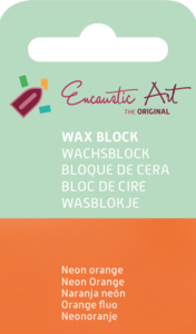 AE Nr.38 wasblokjes 1 st - neonoranje / Blocs de Art Encaustique 1 pcs - fluo orange / Arts Encaustic Blöcke 1 St - neonorange