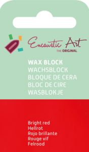 AE Nr.43 wasblokjes 1 st - felrood / Blocs de Art Encaustique 1 pcs - rouge vif / Arts Encaustic Blöcke 1 St - feuerrot